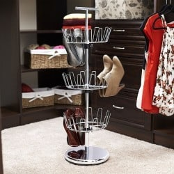 Household Essentials Three-Tier Revolving Shoe Tree