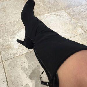 stretch calf boots