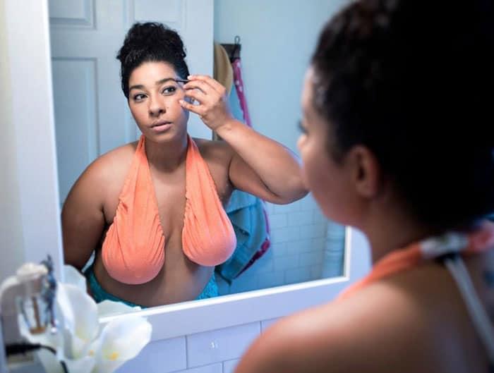 breast hammock for women's sweaty breast